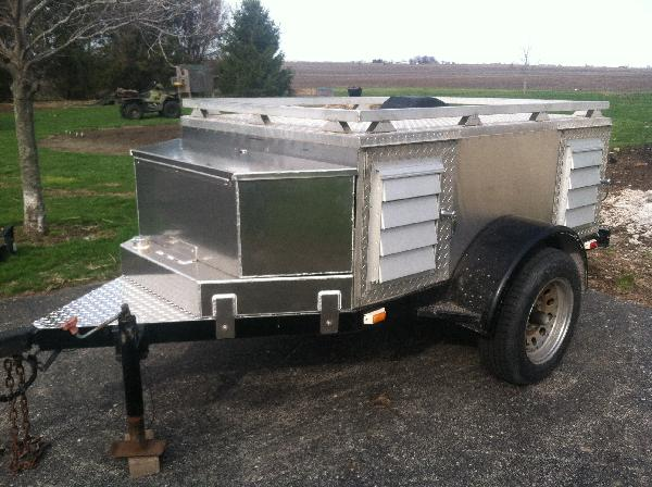 4 Dog Trailer With Storage And Water Tank