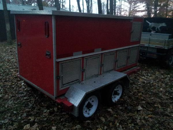 Used 6 Hole Dog Trailer